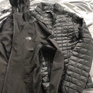 North face thermoball rain jacket duo- 2 JACKETS!!